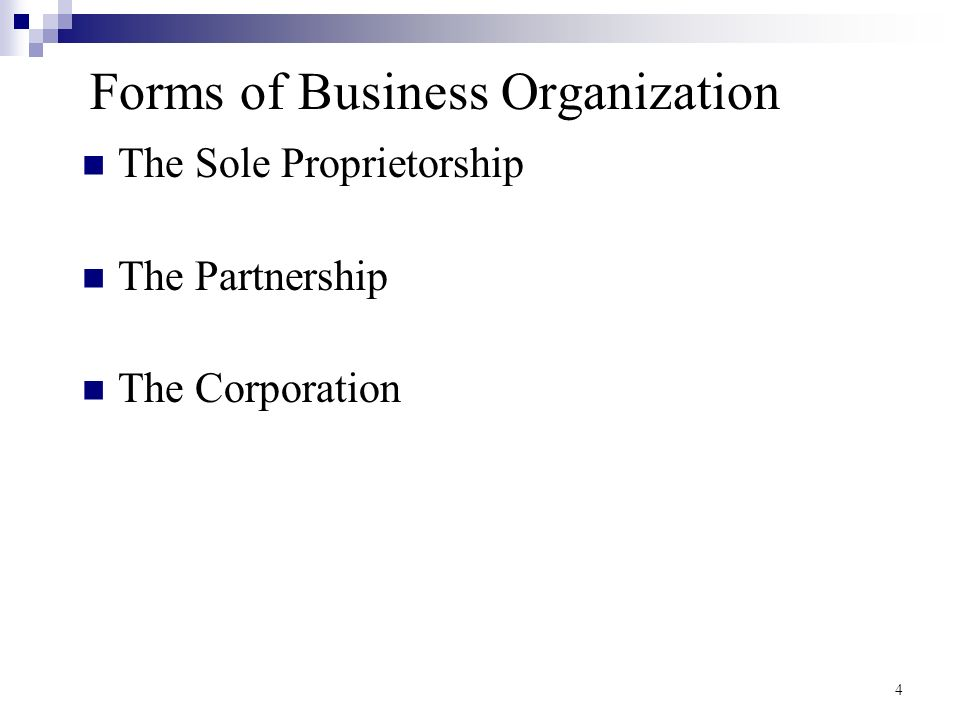 organizational forms of business Organizational forms – creation and considerations- which one should i  choose according to the missouri small business and.
