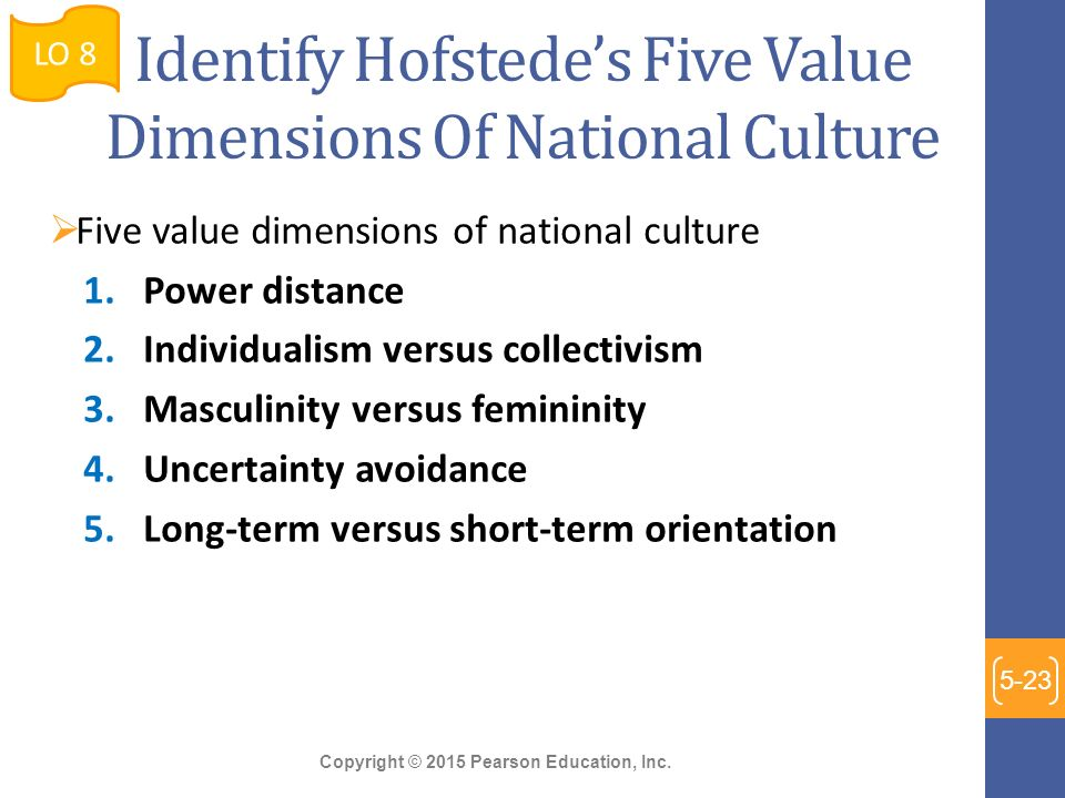 hofstede's cultural dimensions and tourist behaviors