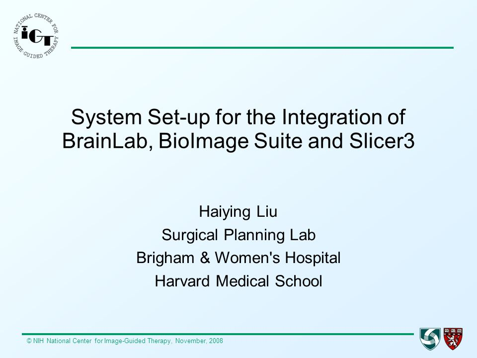 System Set-up for the Integration of