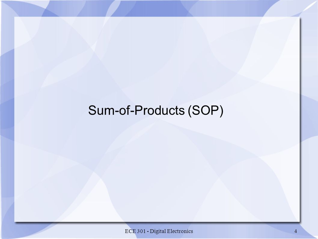 Sum-of-Products (SOP)