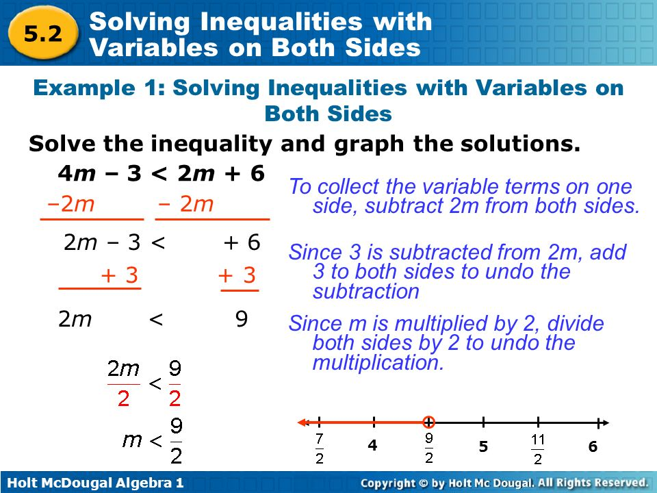 Solving Inequalities With Variables On Both Sides Funfndroid