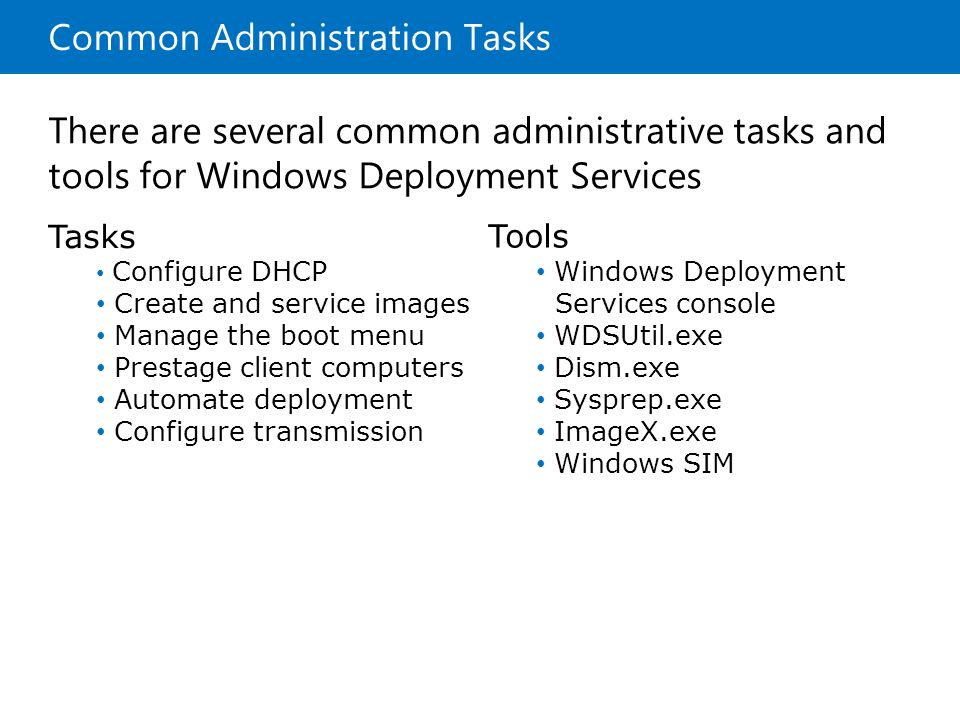 Common Administration Tasks