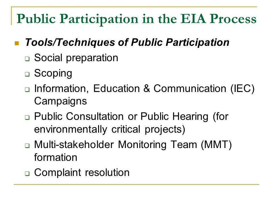 public involvement in eia 1 iaia18 continuous public involvement in eia – central kowloon route mr tony cheung, miss queenie ng, ms alice hsu environmental protection department.