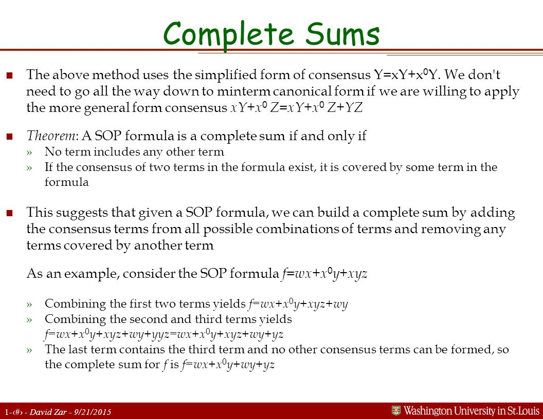 Complete Sums