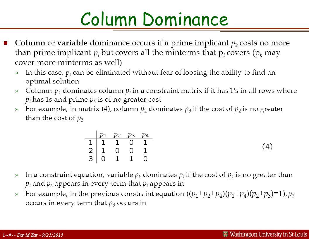 Column Dominance