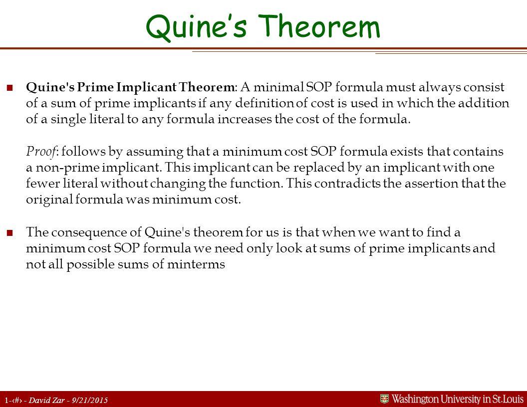 Quine's Theorem