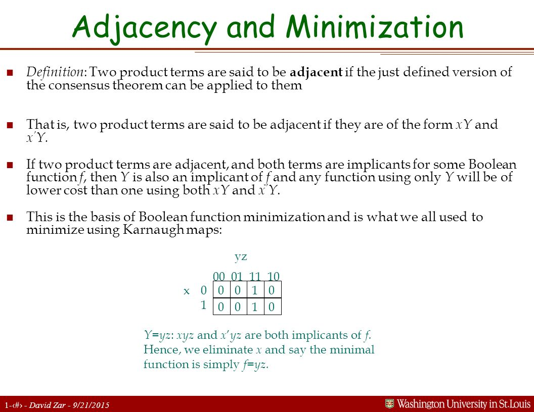 Adjacency and Minimization