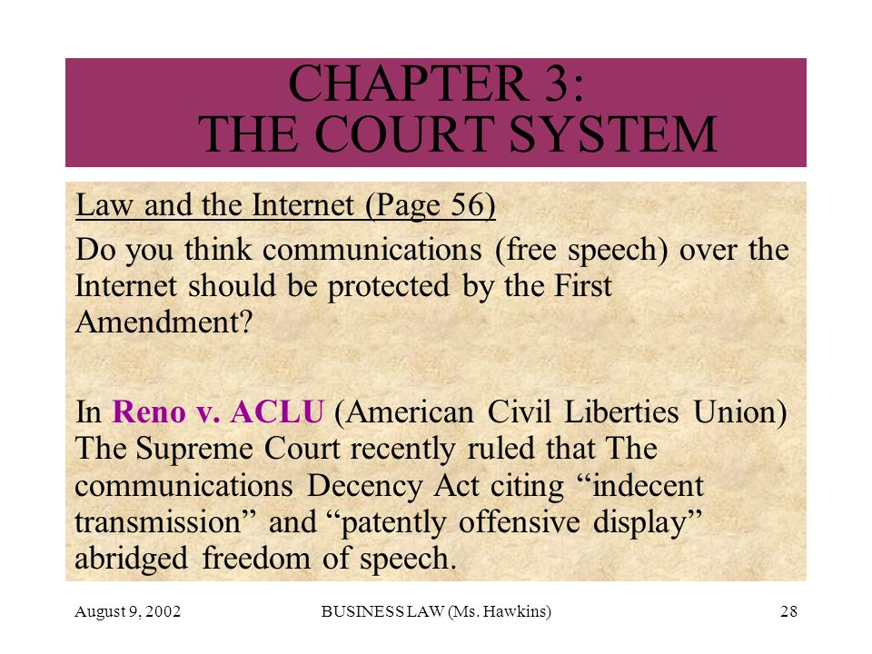 reno vs american civil liberties union