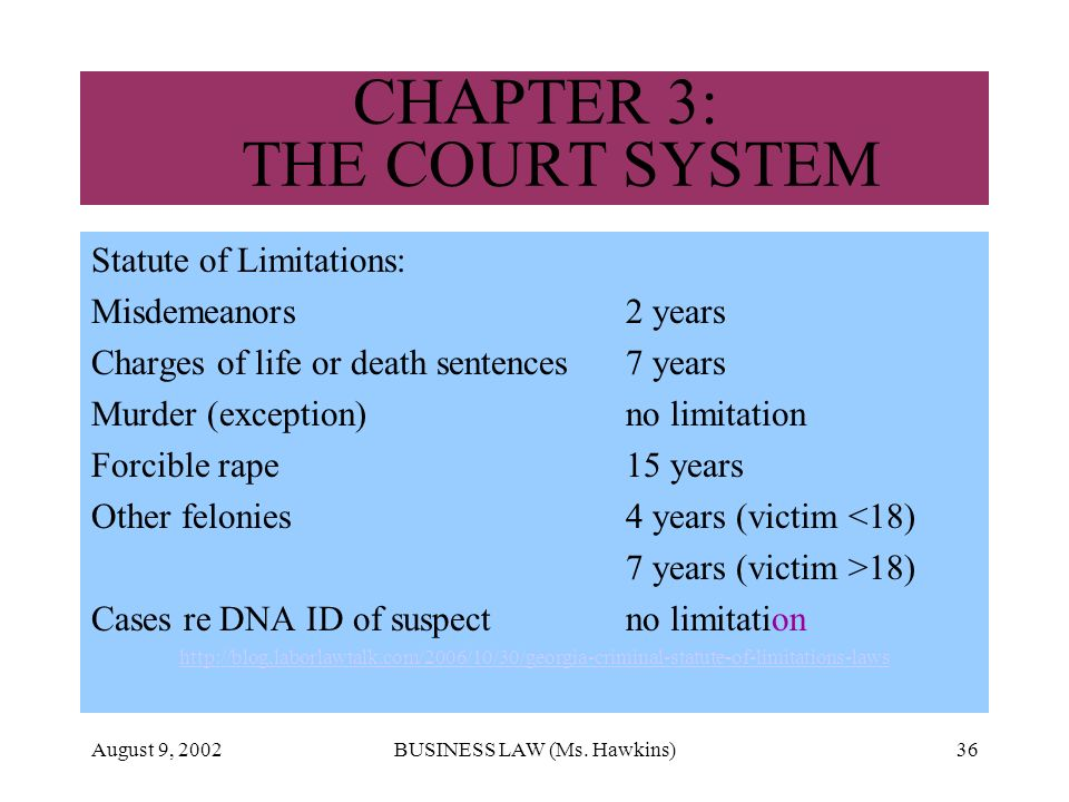 CHAPTER 3: THE COURT SYSTEM