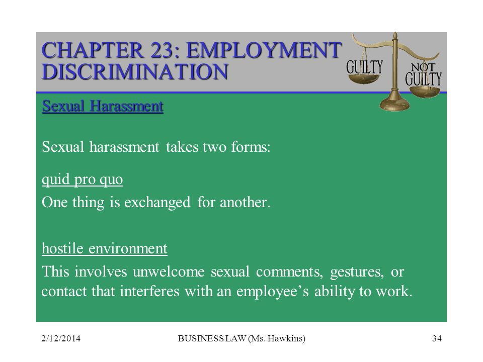 CHAPTER 23: EMPLOYMENT DISCRIMINATION