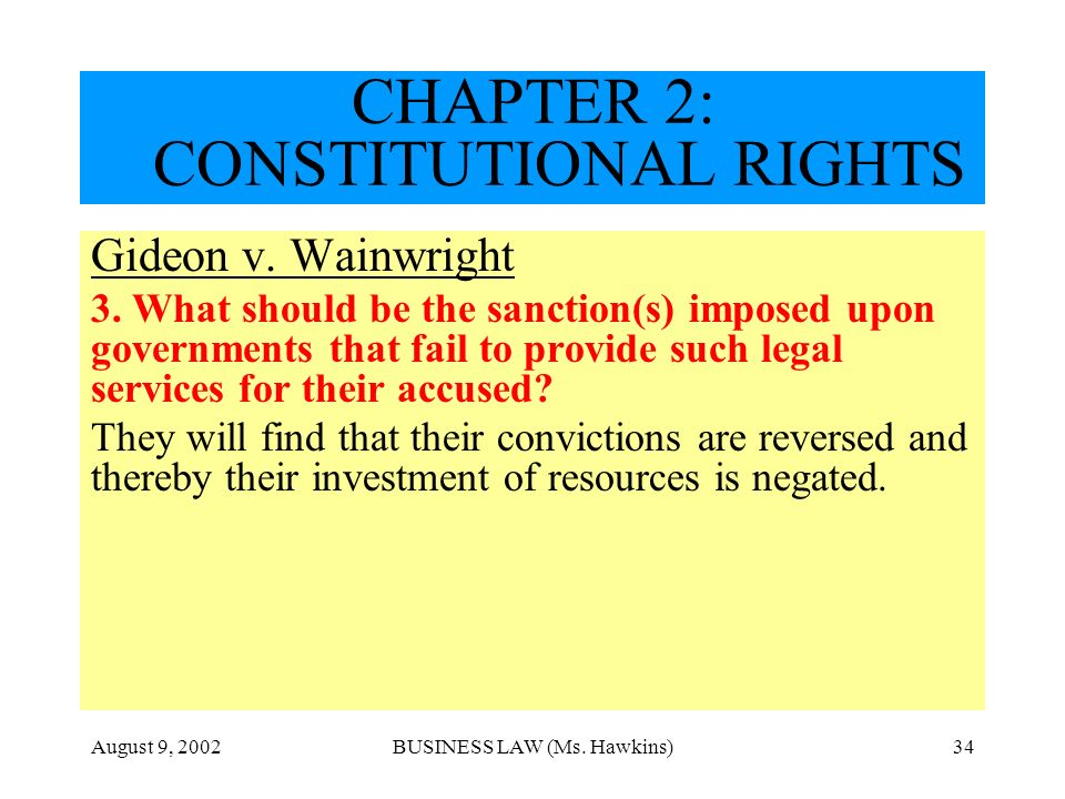 CHAPTER 2: CONSTITUTIONAL RIGHTS
