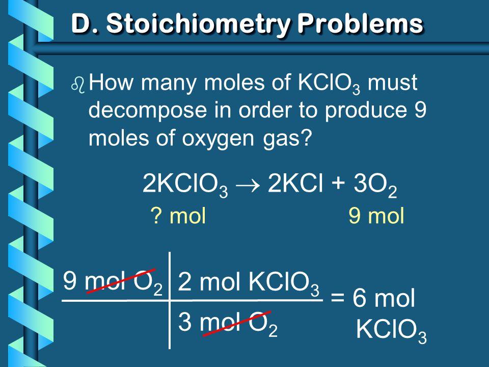 D. Stoichiometry Problems