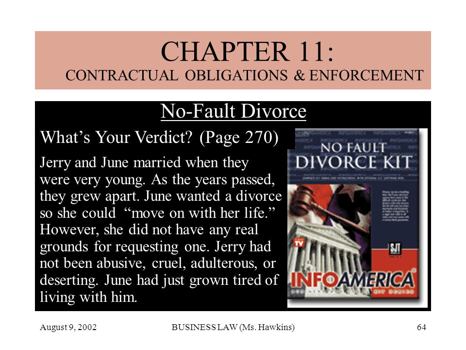 CHAPTER 18: MARRIAGE & DIVORCE