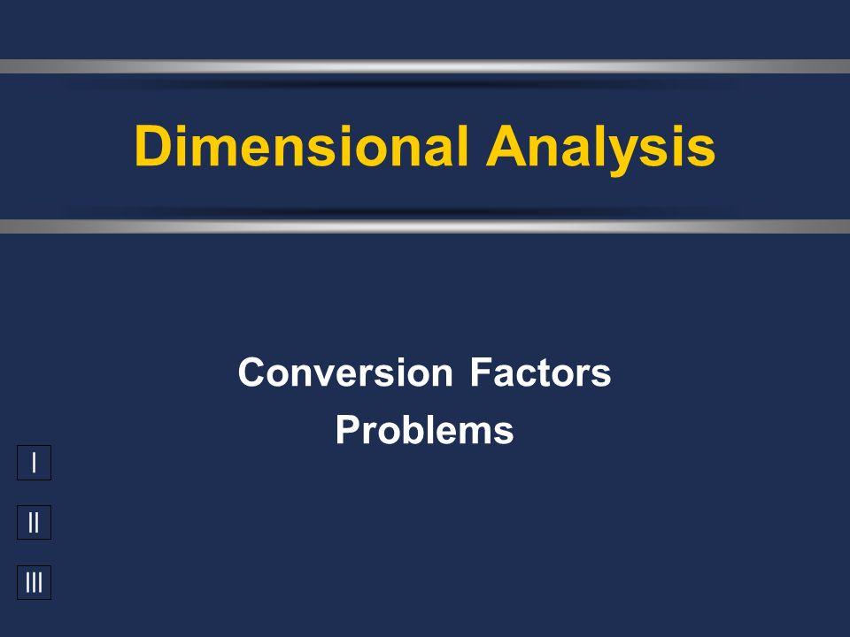 Conversion Factors Problems