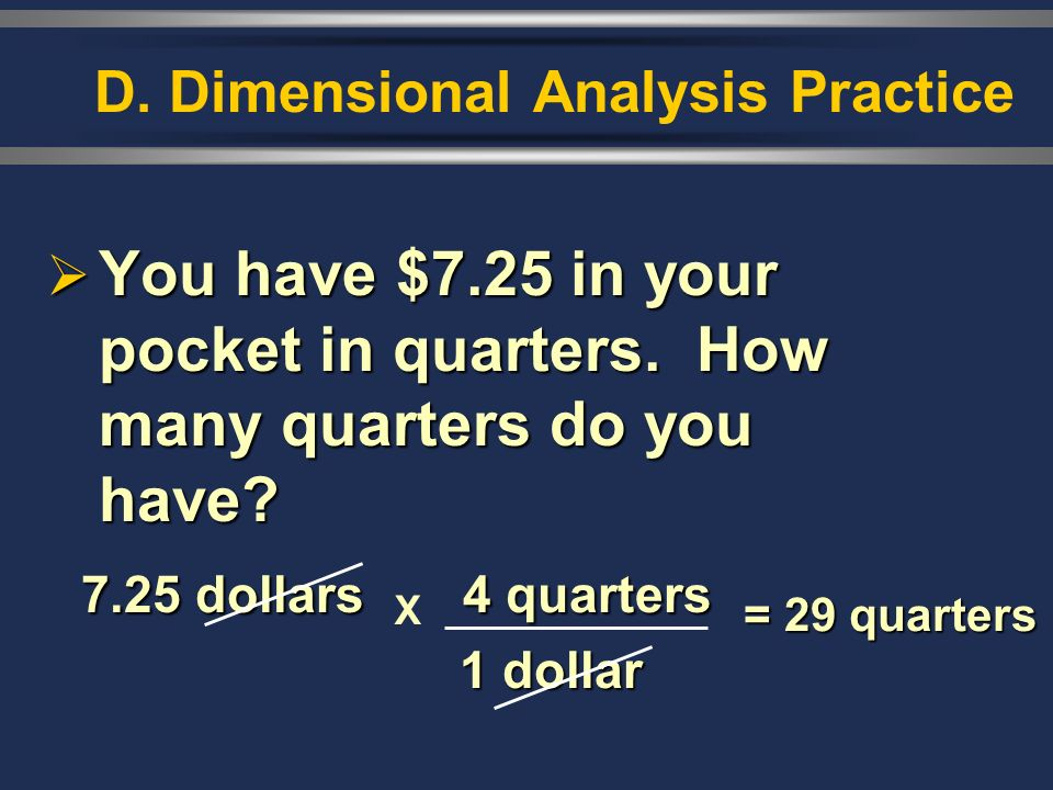D. Dimensional Analysis Practice