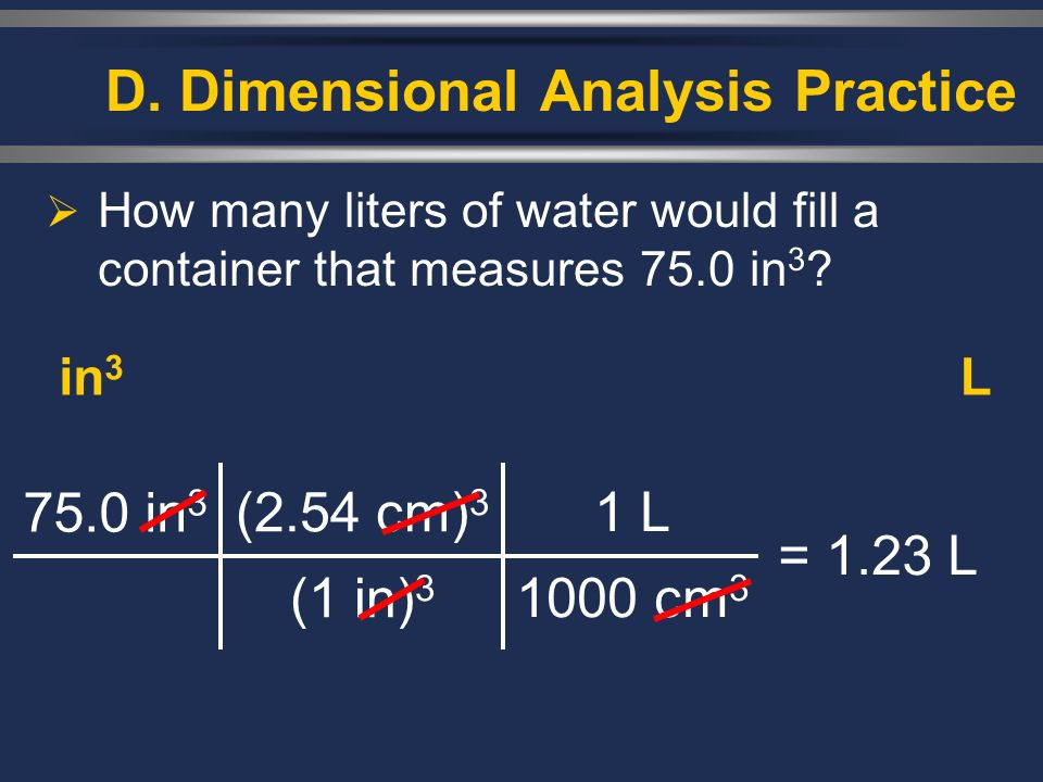 D. Dimensional Analysis Practice