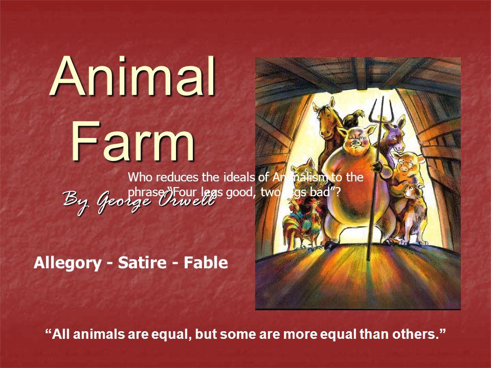 animal farm an allegory