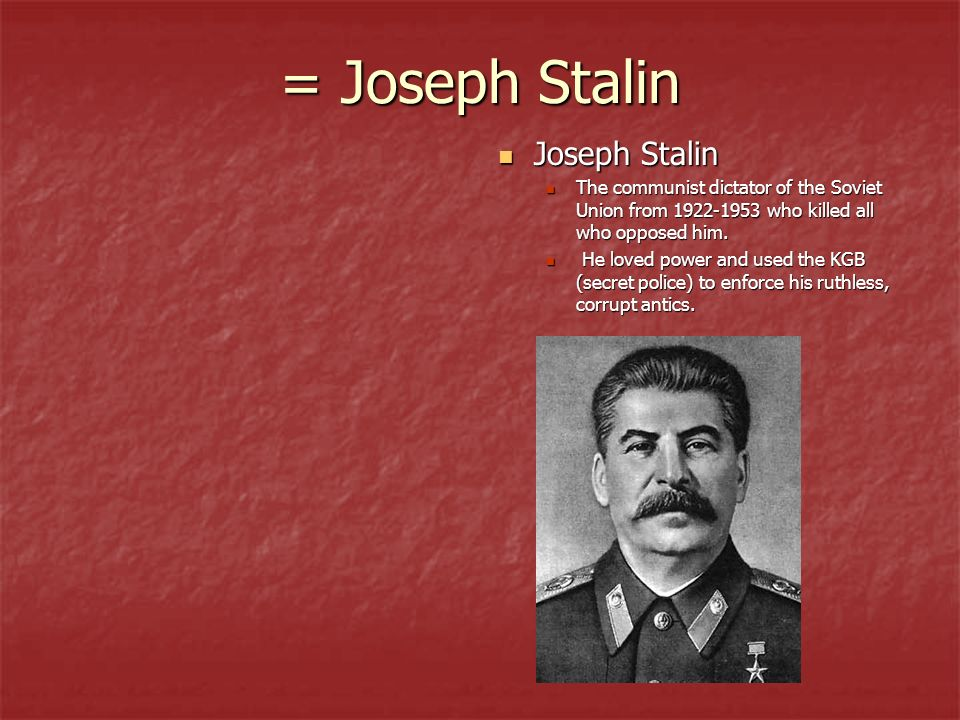 thematic essay on joseph stalin In 1928, joseph stalin became one of the world s most contentious leaders during the period that stalin was in control of mother russia, he transformed.