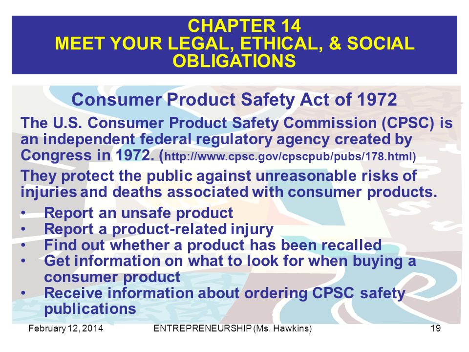 Consumer Product Safety Act of 1972