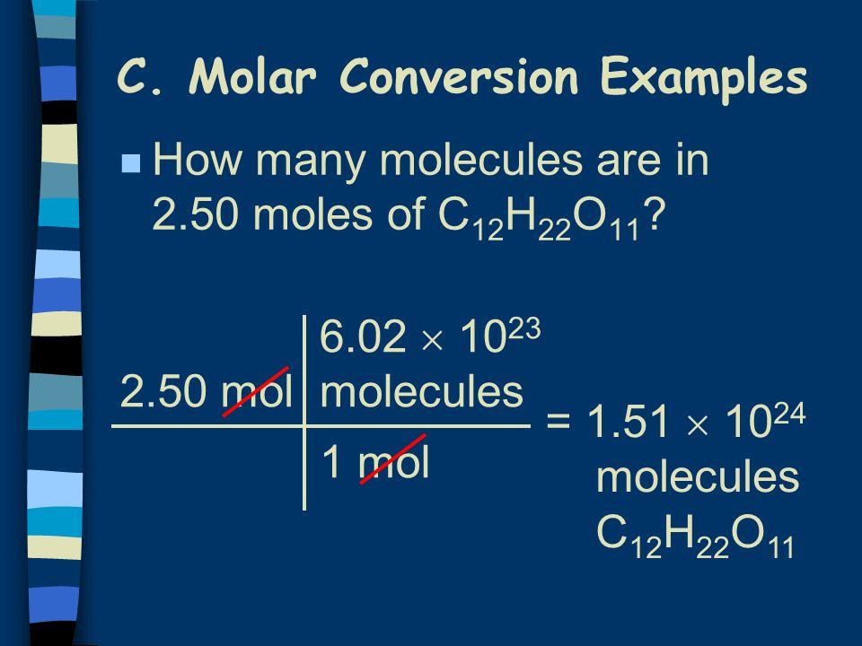 C. Molar Conversion Examples
