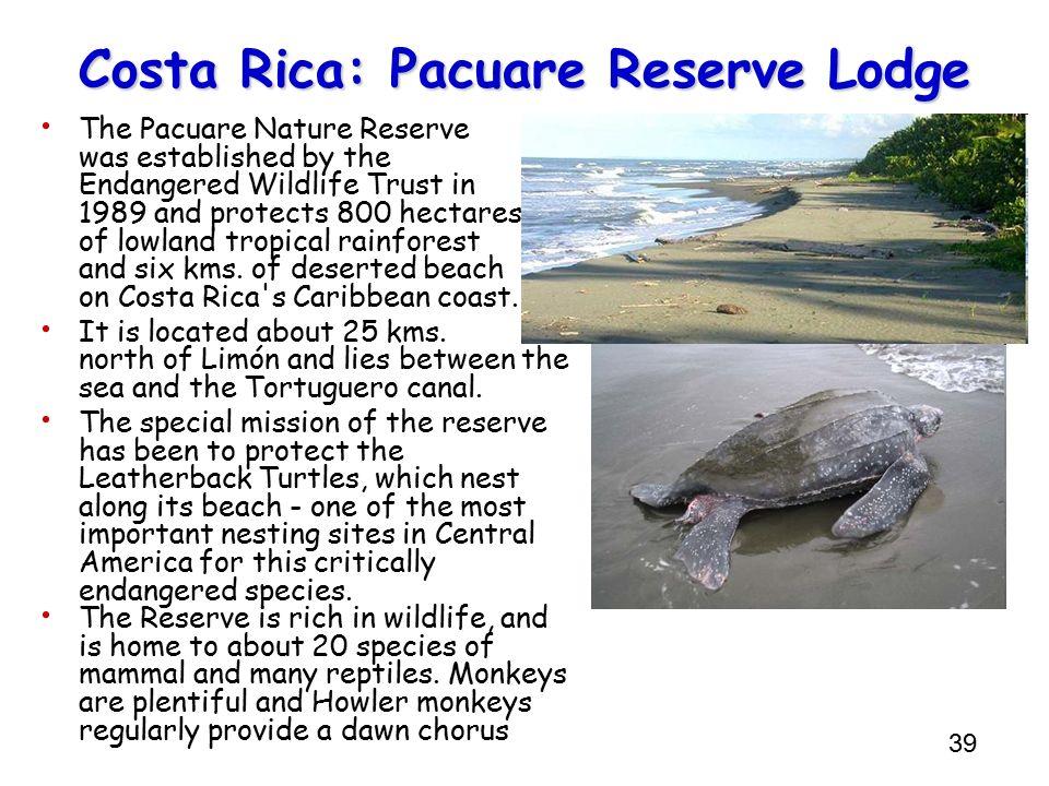 Costa Rica: Pacuare Reserve Lodge
