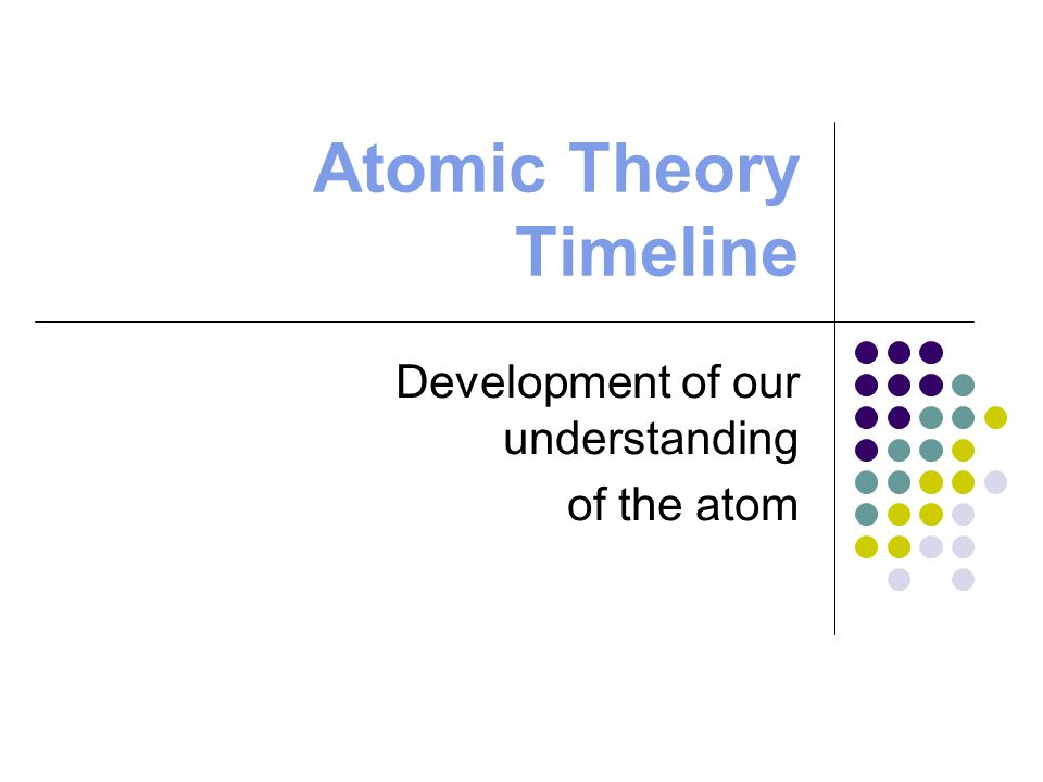 atomic theory timeline 2011 Dalton's atomic theory a microsoft word - a brief history of the atomdoc author: scholefield_michelle created date: 9/15/2011 11:22:12 am.