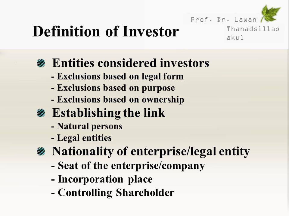 Definition of Investor
