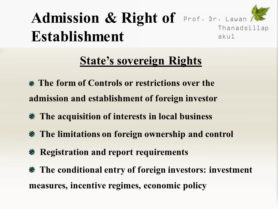 State's sovereign Rights