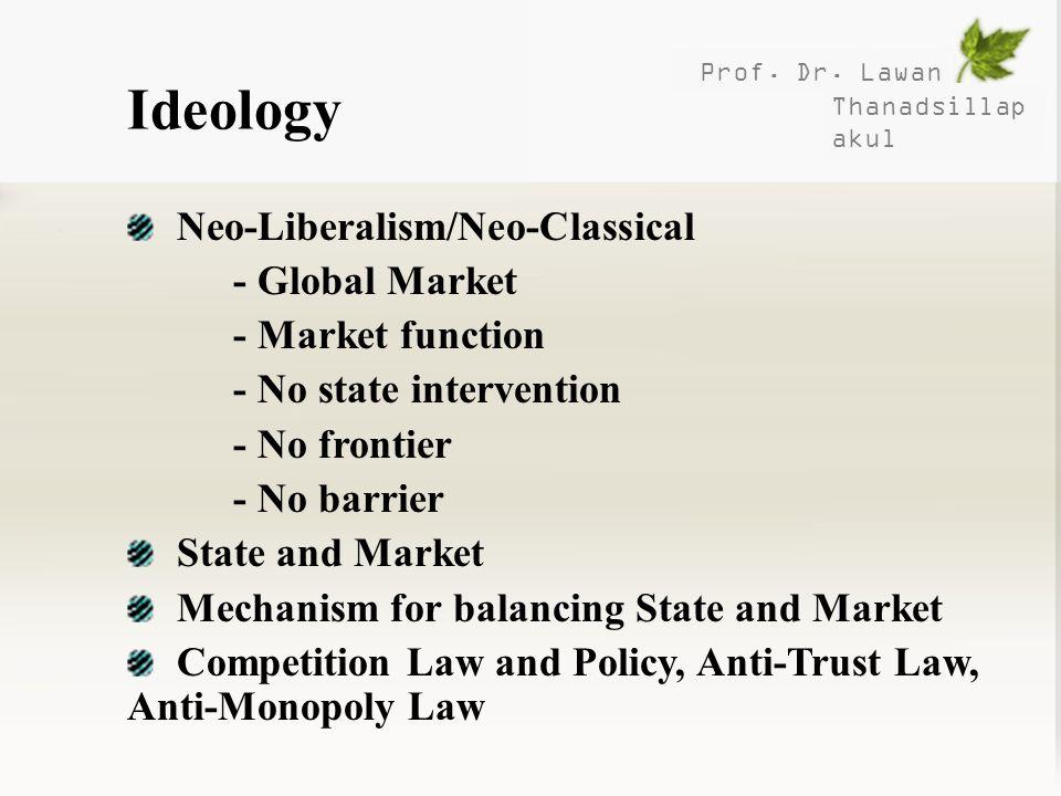 Ideology Neo-Liberalism/Neo-Classical - Global Market