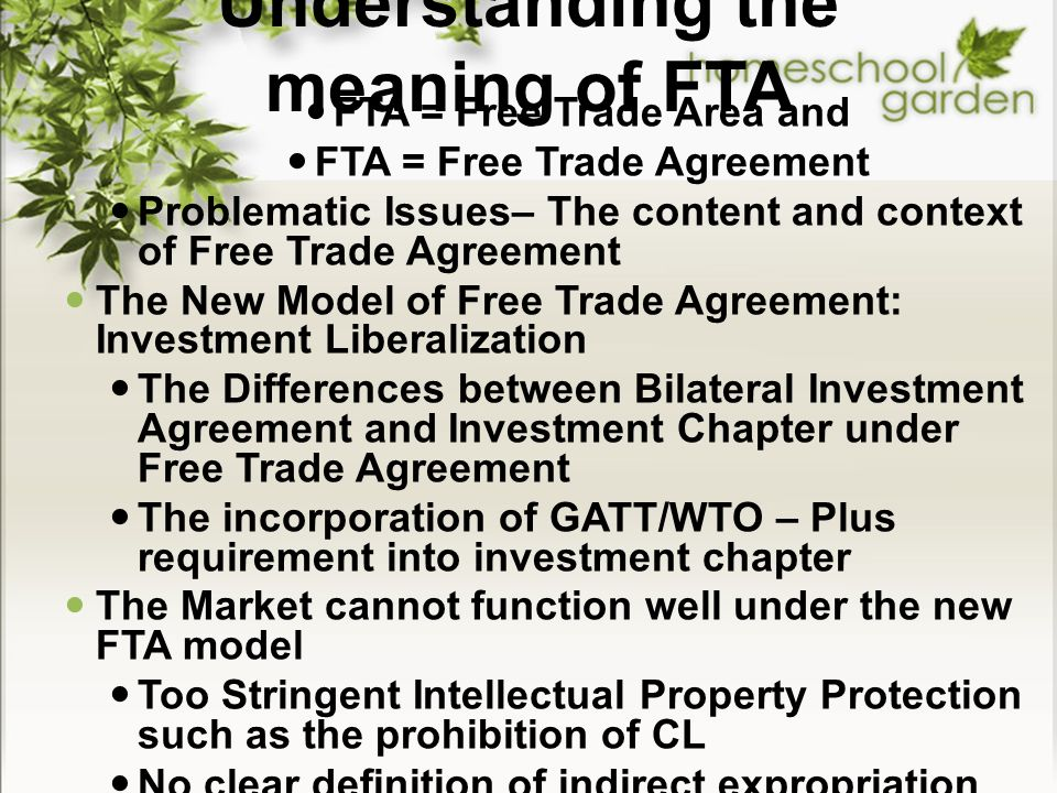 Understanding the meaning of FTA
