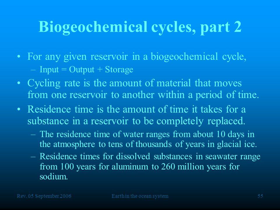 Biogeochemical cycles, part 2