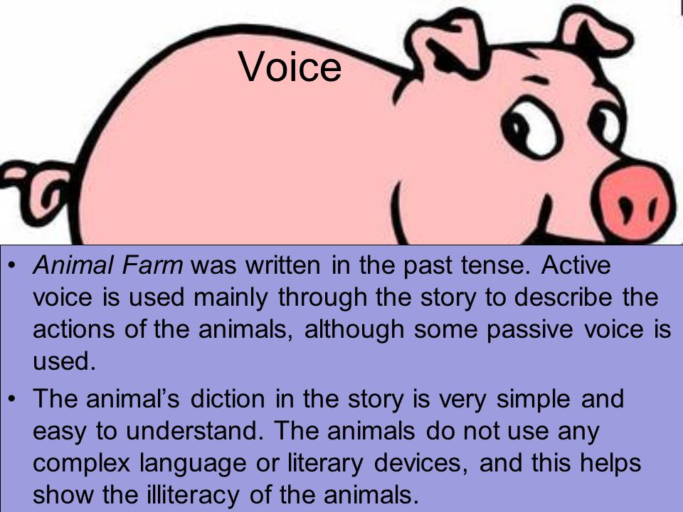 literary devices in animal farm It is a satirical story written in the form of an animal fable in writing animal farm as a fable literary devices in animal farm - literary devices used in animal farm timothy quong what is the definition of a good novel.