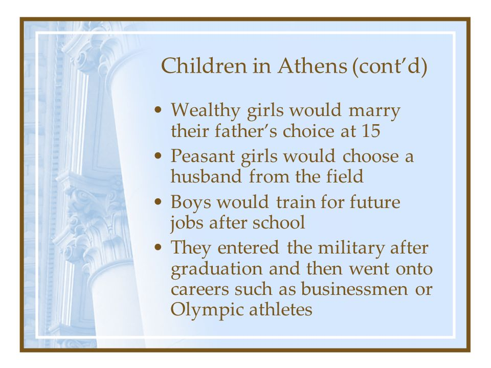 Children in Athens (cont'd)