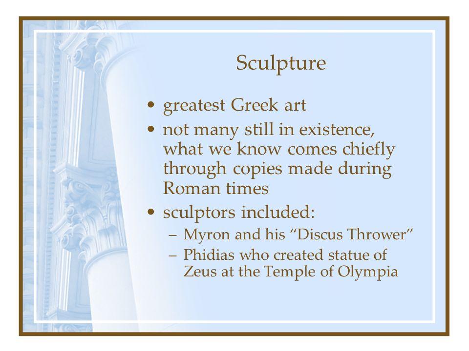 Sculpture greatest Greek art