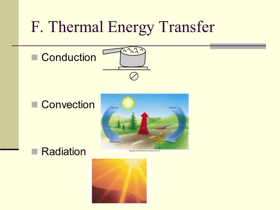 F. Thermal Energy Transfer