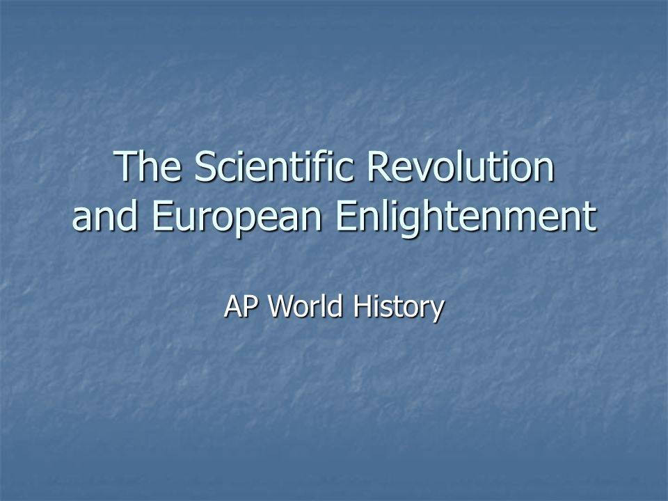 scientific revolution and the enlightenment essay The scientific revolution term papers available at planet paperscom  search results enlightenment and environmental creation by the scientific revolution.