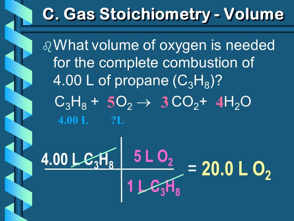 C. Gas Stoichiometry - Volume