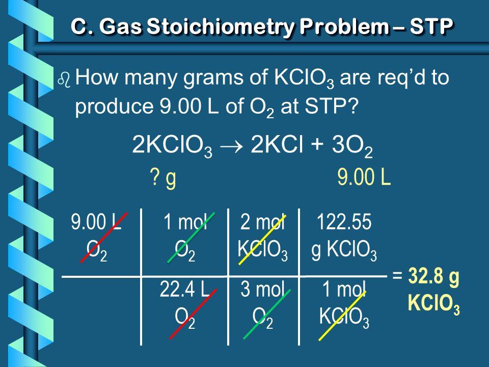 C. Gas Stoichiometry Problem – STP