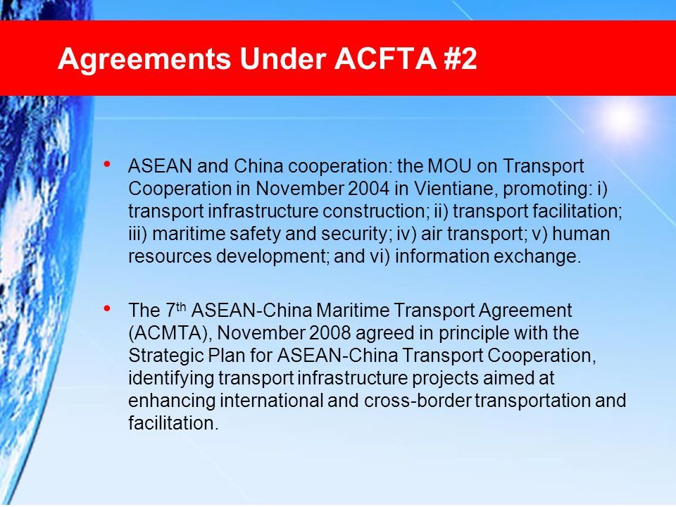 Agreements Under ACFTA #2