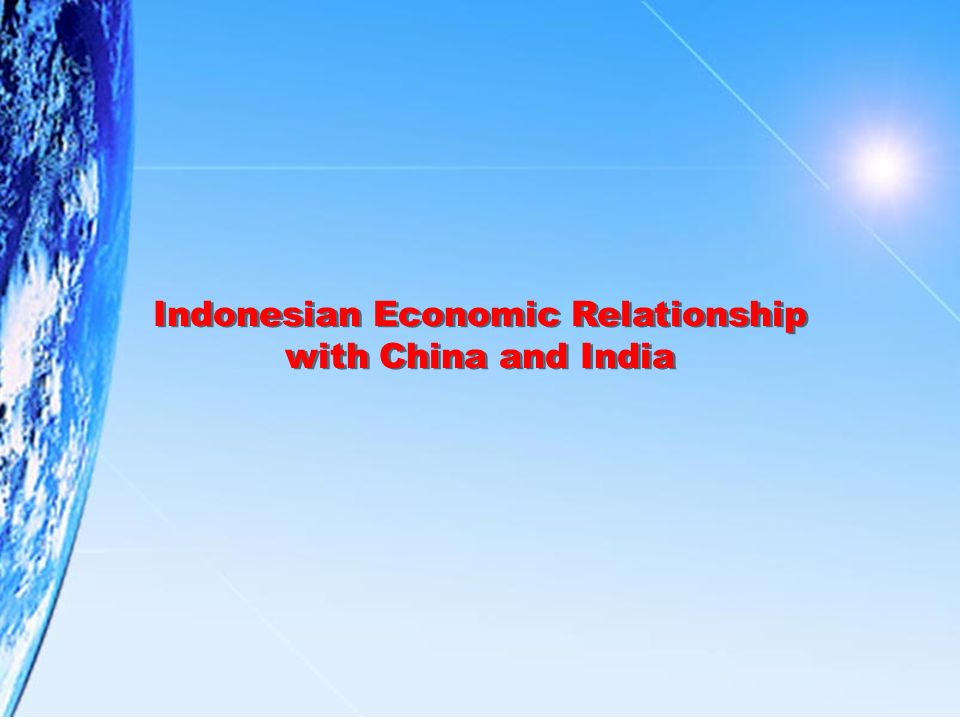 Indonesian Economic Relationship