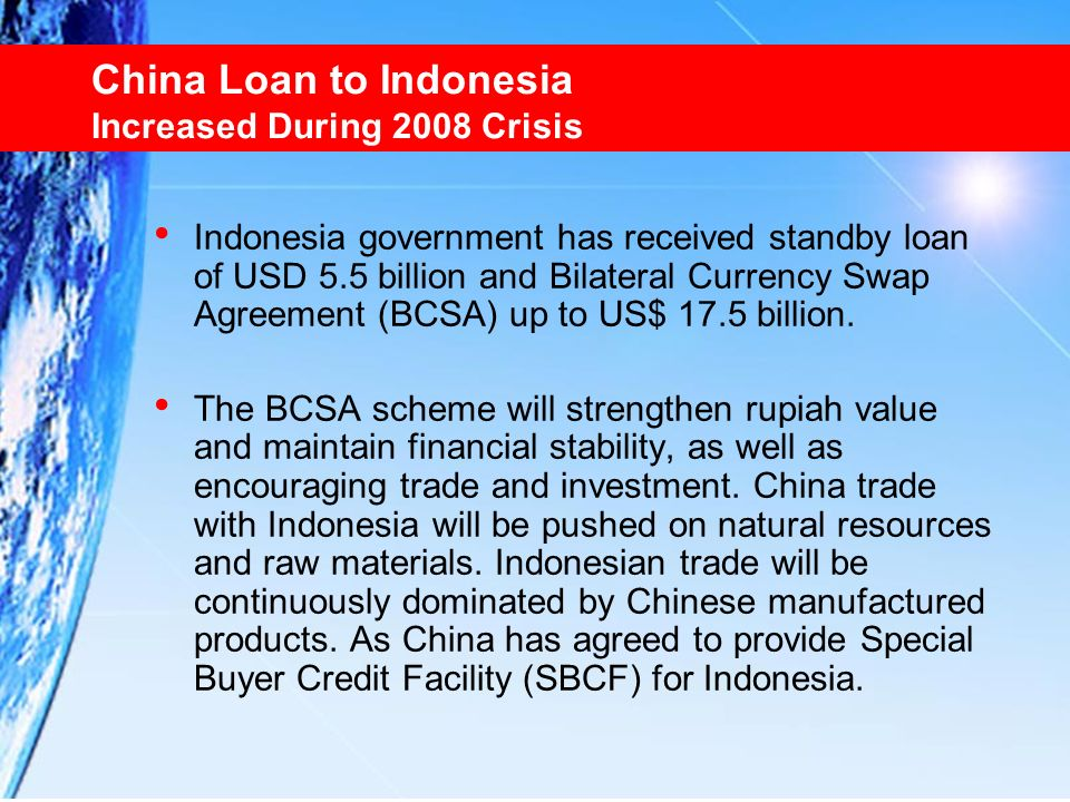 China Loan to Indonesia