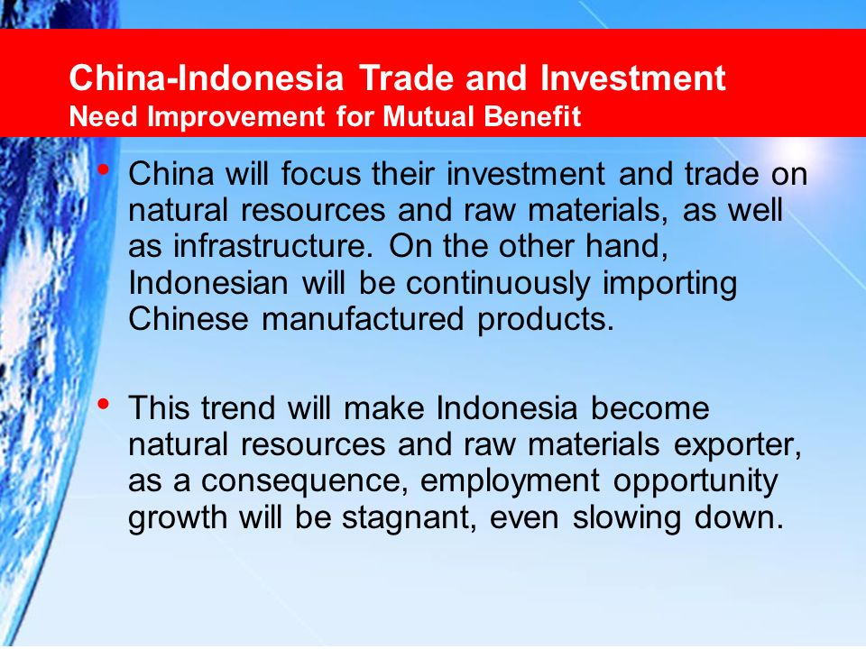 China-Indonesia Trade and Investment