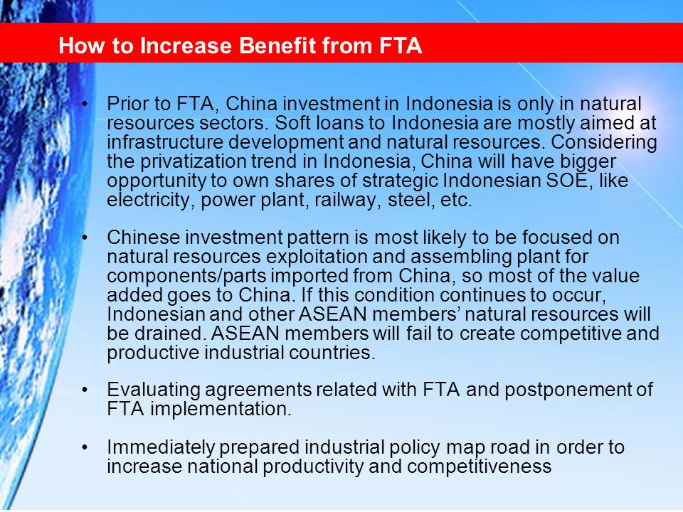 How to Increase Benefit from FTA