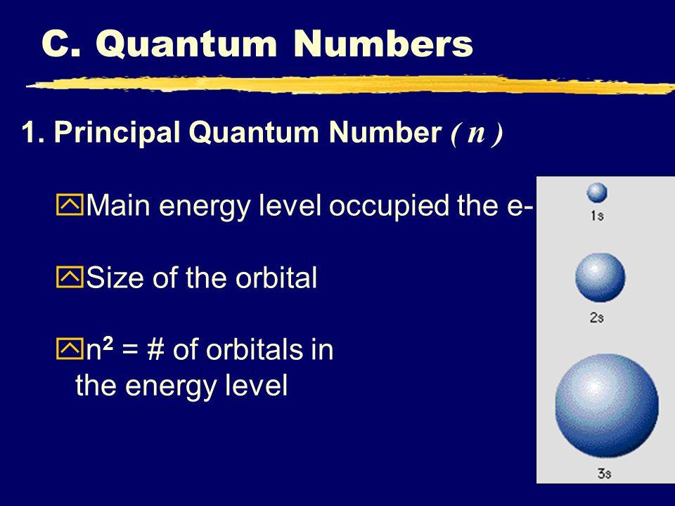 C. Quantum Numbers 1. Principal Quantum Number ( n )