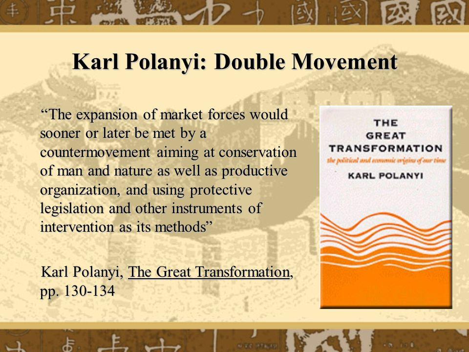 Karl Polanyi: Double Movement