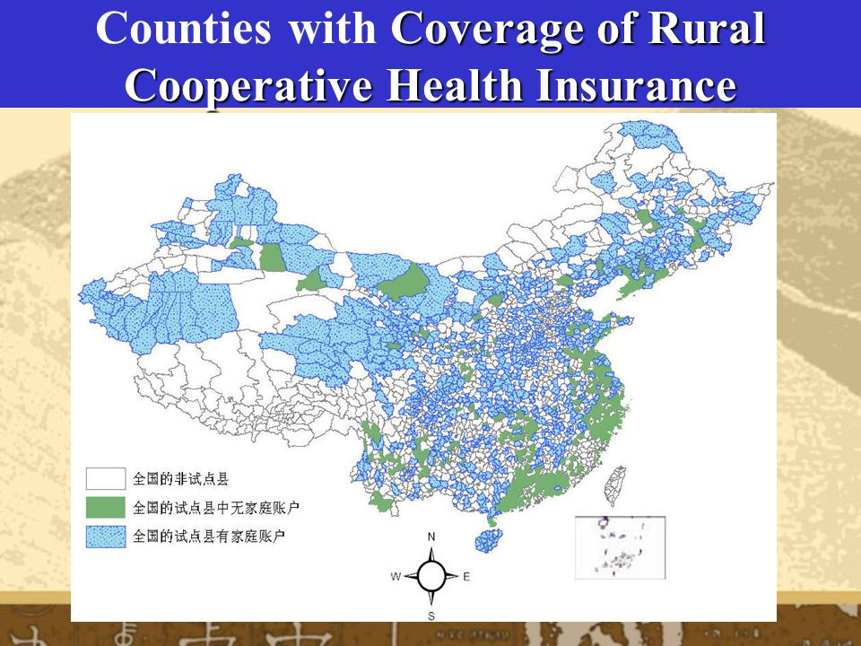 Counties with Coverage of Rural Cooperative Health Insurance