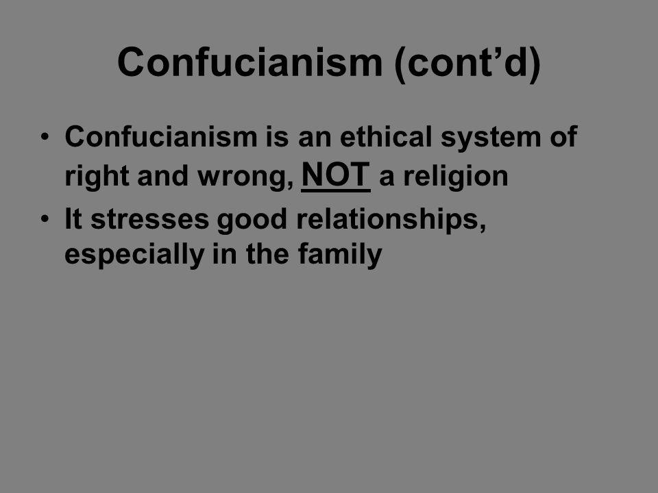 Confucianism (cont'd)
