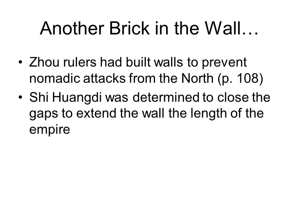 Another Brick in the Wall…