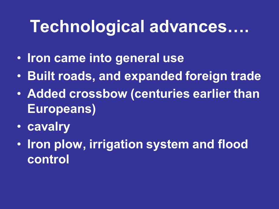 Technological advances….
