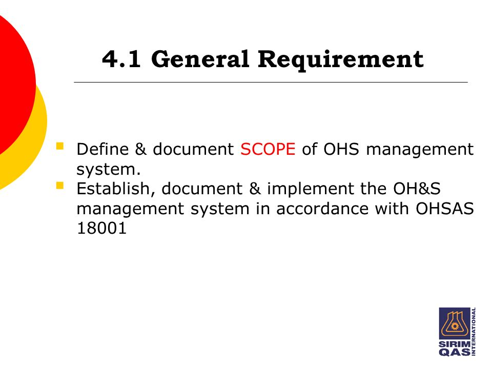 introduction to ohs management system standards ppt With general documents definition